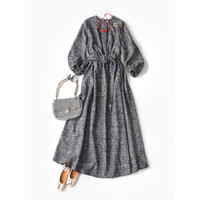 BLUEBIRD BOULEVARD  Tweed A-Line Maxi Dress/ブルーバード ブルバード ツイードマキシドレス FADRE04C12R