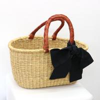 Burkina Faso  Seagrass Hand Woven Basket (SMALL)  /ブルキナファソ製 シーグラスバスケット (小)