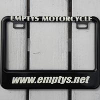 EMPTY'S オリジナル ライセンスフレーム for スモールモーターサイクル ブラック デザイン2