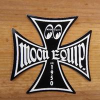 ムーン イクイップド クロス ステッカー ブラック Sサイズ MQD020S