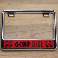 【50cc〜125cc】ライセンス プレート フレーム for スモール モーターサイクル Go Bike クローム MG130GCCHGB