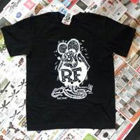 ラットフィンクTシャツ ブラック サイズS RIT002BKS