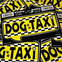 ウィンドーバブルステッカー DOG TAXI DDTT7008