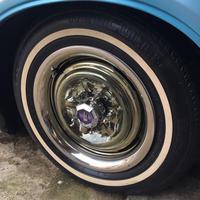 MOONEYES オリジナル ステンレス トリム リング 15インチ 4枚セット PWLTR15EA
