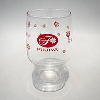 FUJIYA ロゴ入り レトロ グラス