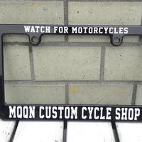モーターサイクル ブラック ライセンス フレーム Watch For Motorcycle MG130MWA