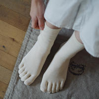 シルクコットン5本指ソックス / memeri