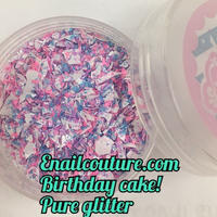 Birthday cake , pure glitter mix! バースデーケーキ グリッターミックス