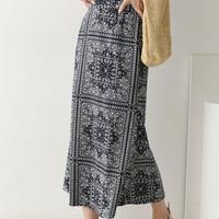SK1163 ペイズリーロングスカート