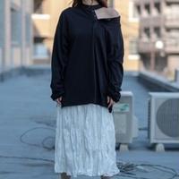 T1011 ワンショルダーロングTシャツ