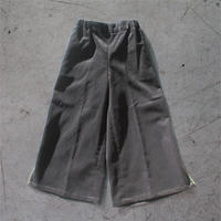 San Francisco  KIDS  Corduroy Wide Pants --Charcoal