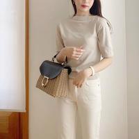 linen button knit