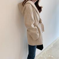 Handmade hood short coat