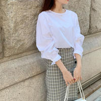 shirring cotton blouse