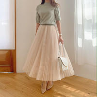 pleats tulle skirt