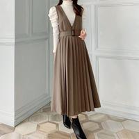 pleats jumper skirt