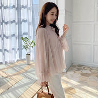 swan shirring blouse