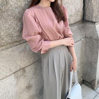 satin puff blouse