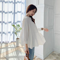 2way flare ribbon blouse