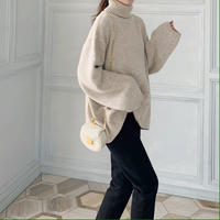 wool turtleneck knit
