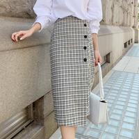button check skirt