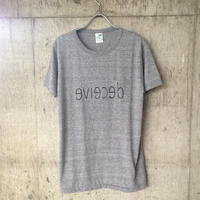 """deceive"" pocket T-shirt gray"