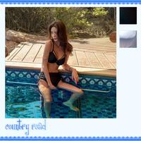 水着 レディース ビキニ ハイウエスト レースアップ シンプル カジュアル スポーティー セクシー プール 海 ビーチ リゾート 温水プール 温泉 10代 20代 30代