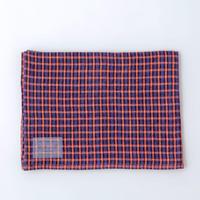 LKC001-ORPL  リネンキッチンクロス オレンジ格子