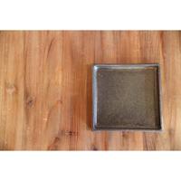 リバーシブル角盛皿 黒 18×18 B-110