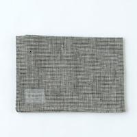 LKC001-BKCHE  リネンキッチンクロス 白黒千鳥格子