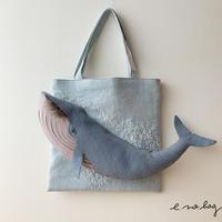 -----受注制作------  Whale ( クジラ ノ バッグ × Pop-Up Appliqué )