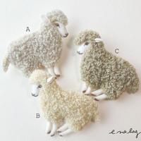 -----受注制作------ Sheep  ( ヒツジ ノ ブローチ× Pop-Up Appliqué )