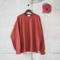 Manual Alphabet〈マニュアルアルファベット〉 ALL TIME KNIT-CREW DK.ORANGE