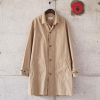 【unisex】Manual Alphabet〈マニュアルアルファベット〉 TYPEWRITER SHIRT COAT LT.BEIGE