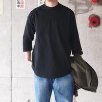 Goodwear〈グッドウェア〉 U.S.A COTTON 7分袖 T-Shirts BLACK