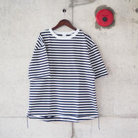 【unisex】have a good day〈ハブアグッデイ〉 BORDER LOOSE FIT TEE NAVY