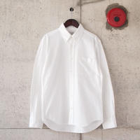 Manual Alphabet〈マニュアルアルファベット〉 COTTON FLANNEL B.D SHIRT WHITE
