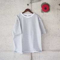 【unisex】have a good day〈ハブアグッデイ〉 BORDER LOOSE FIT TEE GREY