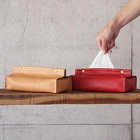 Esperanto〈エスペラント〉 BAKETTA LEATHER TISSUE BOX CASE TAN/RED