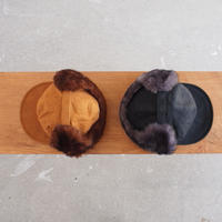 SUBLIME〈サブライム〉 EARFLAP 6PANEL CAP CAMEL/BLACK