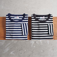 【unisex】Drole & FUN〈ドロールアンドファン〉 NARROW BORDER CREW NECK TEE NAVY×WHITE/BLACK×WHITE