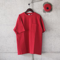 Goodwear〈グッドウェア〉 U.S.A. COTTON CRW NECK LOOSE TEE  WHITE/RED