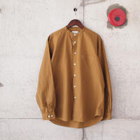 Manual Alphabet〈マニュアルアルファベット〉 LOOSE FIT BAND COLLAR SHIRT  GINGER