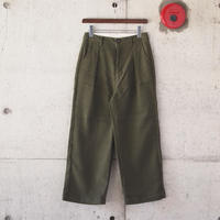 【women】Betty Smith〈ベティスミス〉 FLANNEL WIDE PANTS OLIVE
