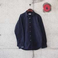 Manual Alphabet〈マニュアルアルファベット〉 LOOSE FIT REGULAR COLLAR SHIRT NAVY