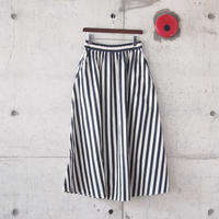 【women】have a good day〈ハブアグッデイ〉 STRIPE LONG SKIRT NATURAL×BLACK