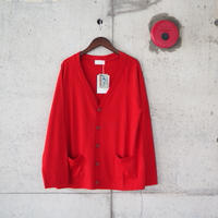 SPINNER BAIT〈スピナーベイト〉 MOUNT BREATH MERINO WOOL CARDIGAN RED