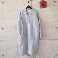 【women】Manual Alphabet〈マニュアルアルファベット〉 LINEN DOLMAN ONE PIECE  STRIPE