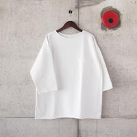 Manual Alphabet〈マニュアルアルファベット〉 CUT OFF PIGMENT TEE SHIRT WHITE