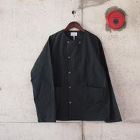 Manual Alphabet〈マニュアルアルファベット〉 WAX WEATHER SHIRT CARDIGAN CHARCOAL